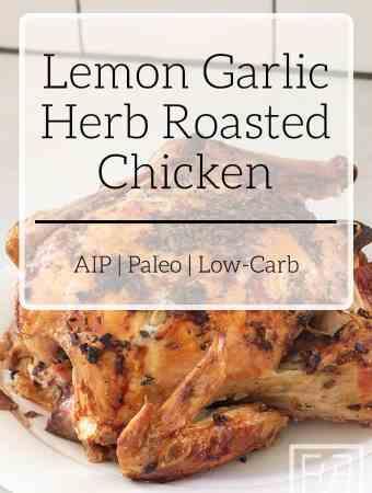 Lemon Garlic Herb Roasted Chicken