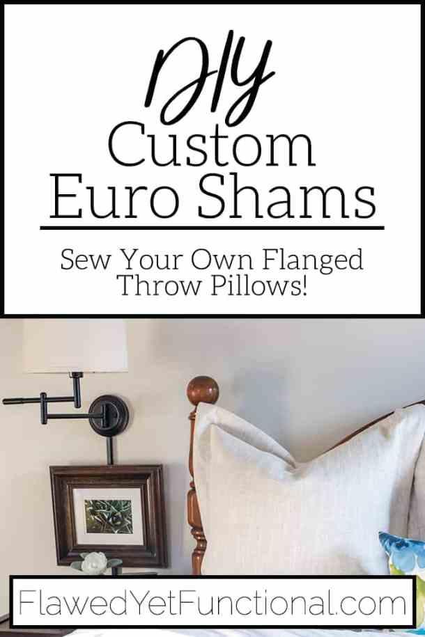 Flanged Euro Sham Sewing Tutorial