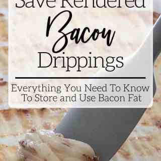 Keep and Store Rendered Bacon Fat Drippings Grease