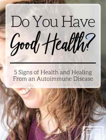 Signs of Good Health