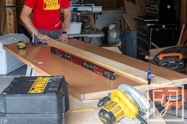 cutting a Desk from a Door