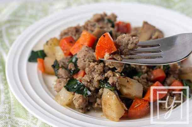 Easy Vegetable Breakfast Skillet Hash
