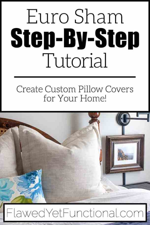 diy euro sham tutorial