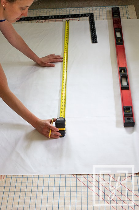 measuring top cut lining fabric for flat roman shade