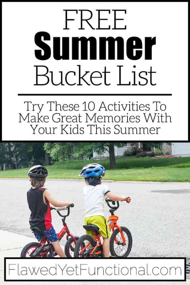 kids on bikes by street healthy summer bucket list