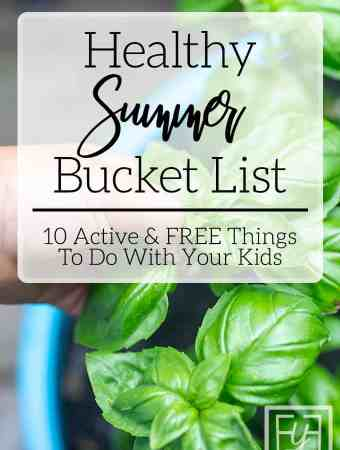 kid picking basil healthy summer bucket list idea