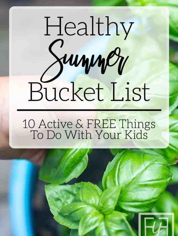 kid picking basil healthy summer bucket list idea