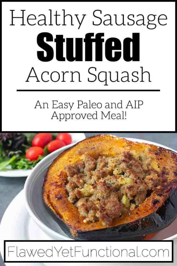 Stuffed Acorn Squash with sausage