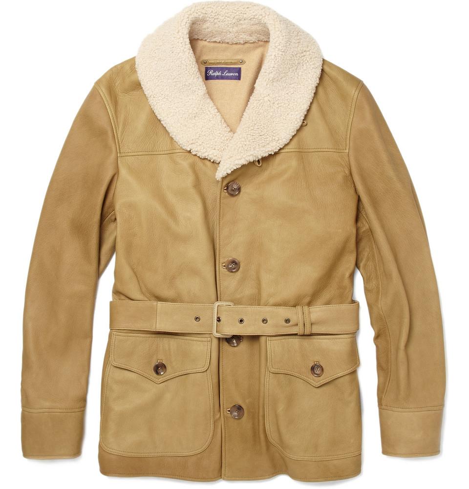 Ralph Lauren Purple Label Suede Bomber Jacket - Clothing