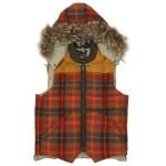 Nigel Cabourn x Eddie Bauer Orange Check Canadian Vest $870.00