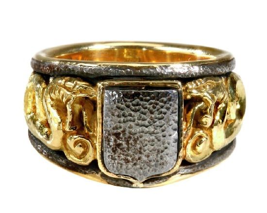Marco Baroni Gold And Iron Ring