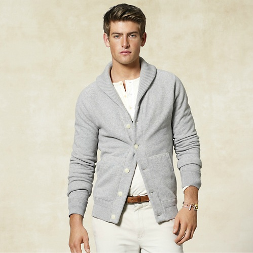 Rugby Ralph Lauren Shawl-Collar Fleece Cardigan