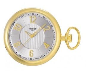 Tissot Brass Silver Mechanical Pocket Watch