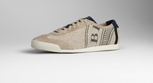 Burberry Suede Detail Canvas Sneakers