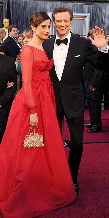 Colin Firth 2012 Academy Awards Red Carpet