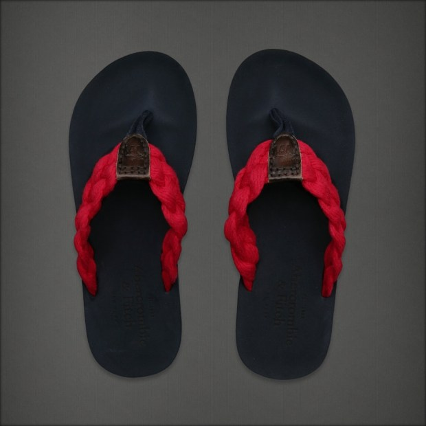 Abercrombie & Fitch Men's Preppy Flip Flop Sandals