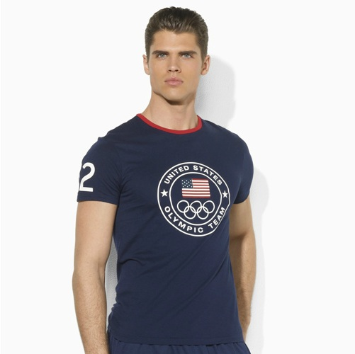 Polo Ralph Lauren 2012 U.S. Olympic Collection Team USA Custom-Fit Ringer Tee