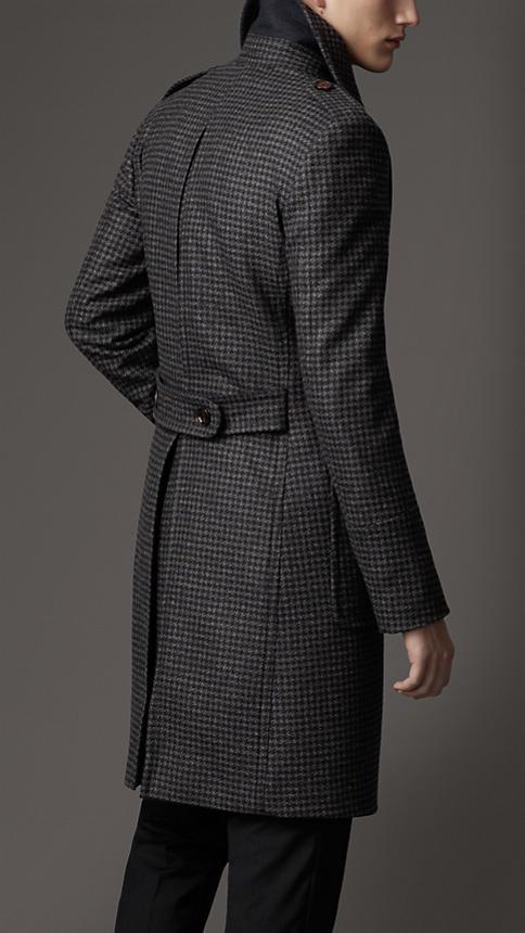 Burberry Virgin Wool Houndstooth Greatcoat