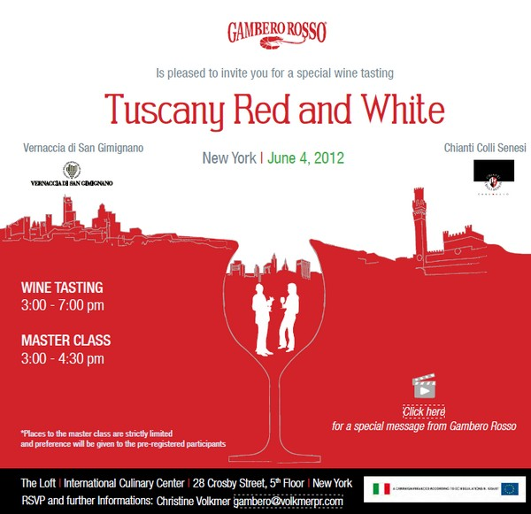 Gambero Rosso Tuscany Red & White Wine Tasting