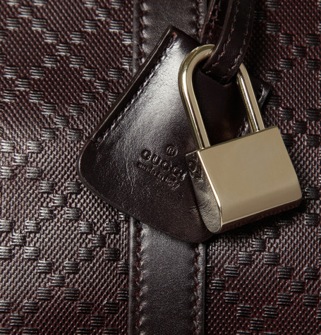 Gucci Textured-Leather Holdall Bag