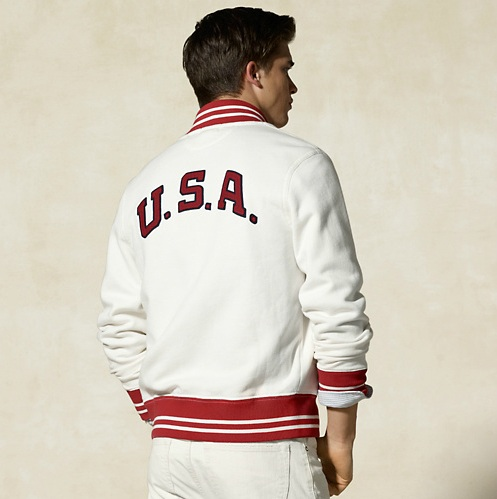 Rugby Ralph Lauren Men's USA Baseball Jacket