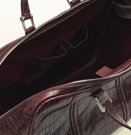 284e5875de40 Flawless CrownsGucci Helmut Crocodile Carry-On Men's Duffle Bag ...