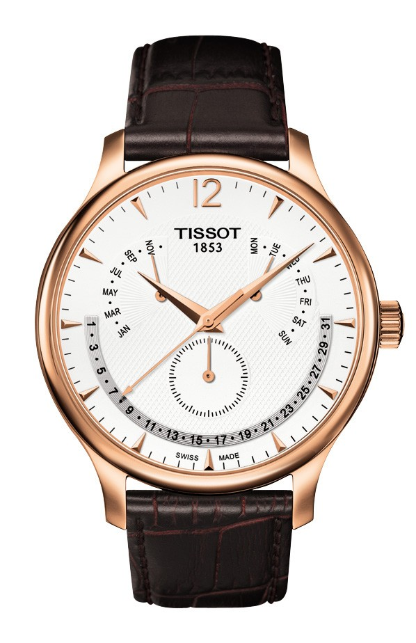 Tissot Tradition Rose Gold Men's Perpetual Calendar Classic Quartz Watch