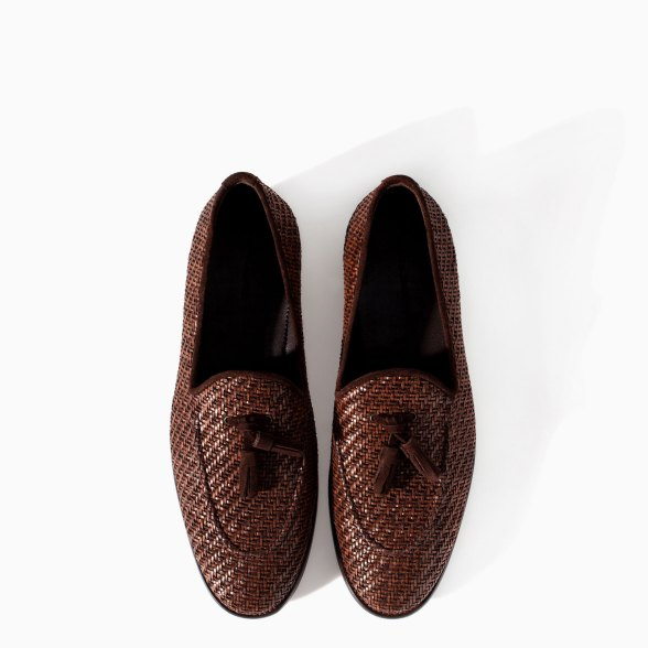 Zara Men's Braided Moccasin Shoes 2