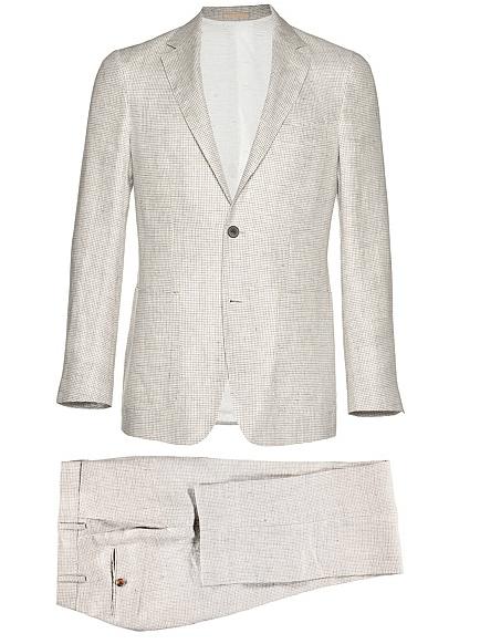 Suit Supply Havana Light Brown Houndstooth Suit