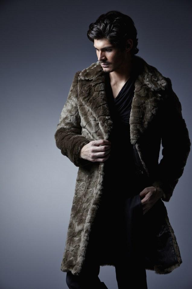 Charly Calder Men's Rome Faux Fur Coat