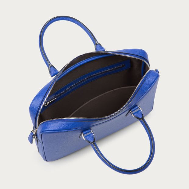 Bally Men's Nikkos True Blue Calf Leather Business Bag 4