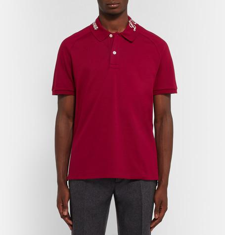 Gucci Men's Blind For Love Pique Polo Shirt