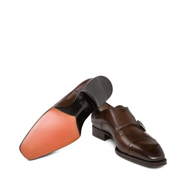 Santoni Double-Buckle Leather Shoes 3