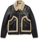Coach Stinger Textured-Shearling Jacket