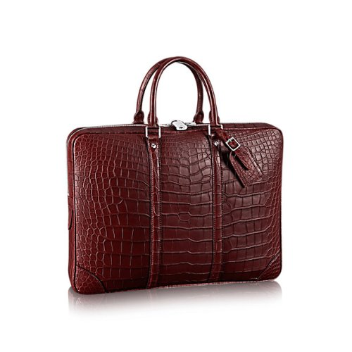 Louis Vuitton Porte-Documents Voyage Crocodile Briefcase