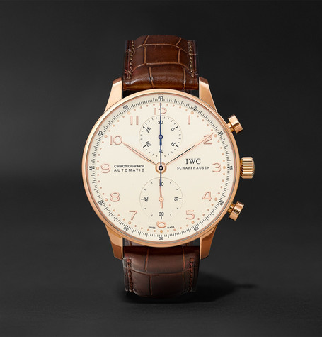 IWC SCHAFFHAUSEN Portugieser Chronograph 40.9mm Red Gold And Alligator Watch