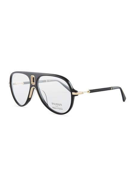 Flawless Crowns - Balmain Acetate Aviator Optical Frames