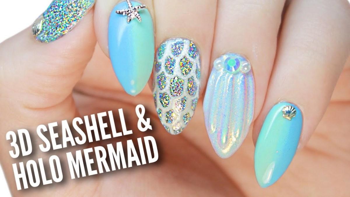 Mermaid Ocean Nail Art Design Flawlessend