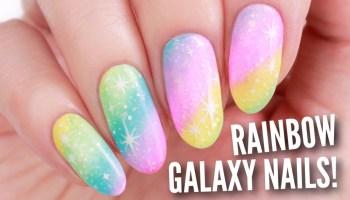 Pink galaxy nails flawlessend diy rainbow galaxy nail art prinsesfo Gallery