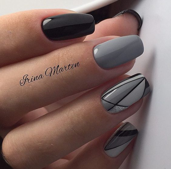 black grey chrome