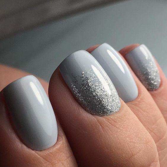 grey lightblue glitter