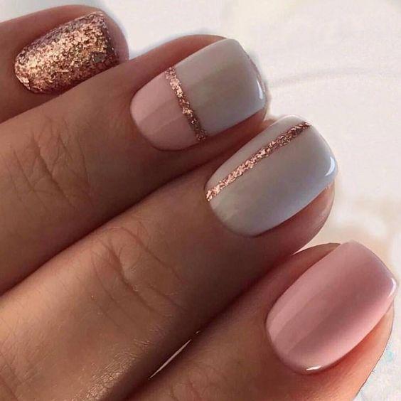 light blue pink glitter
