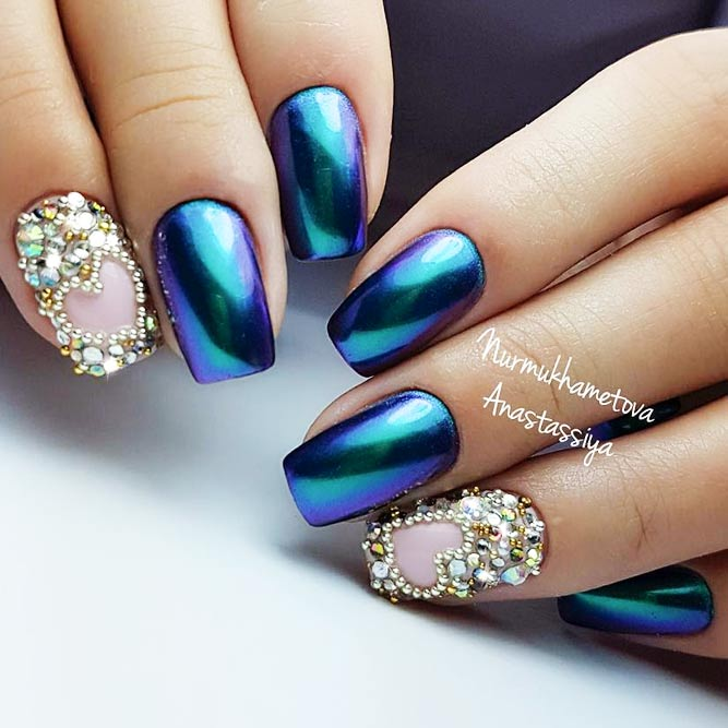 Accent Nails with Rhinestones Elegant Solution picture 3