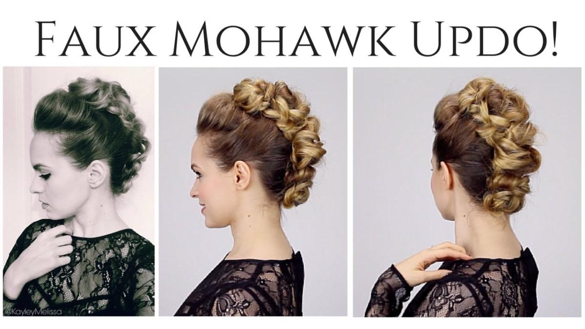 Faux Mohawk Updo Flawlessend