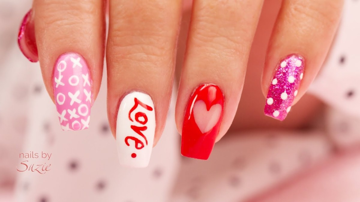 4 EZ DIY Hand Painted Valentine\'s Nail Art – FlawlessEnd