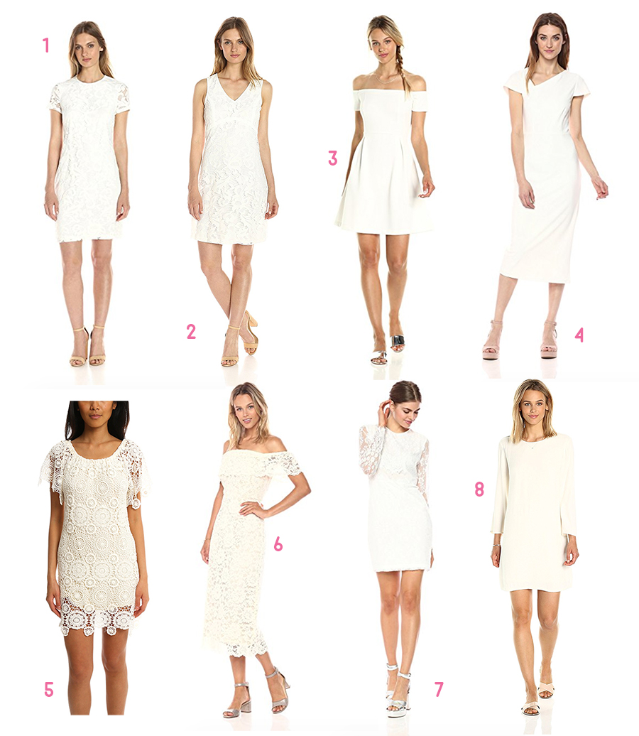 Red, White, and Pink All Over: Cute Valentine's Day Cocktail Dresses under $100 by fashion blogger Stephanie Ziajka from Diary of a Debutante, Cocktail dresses under 100, Valentines dresses under 100, Affordable white cocktail dresses, cheap cocktail dresses online