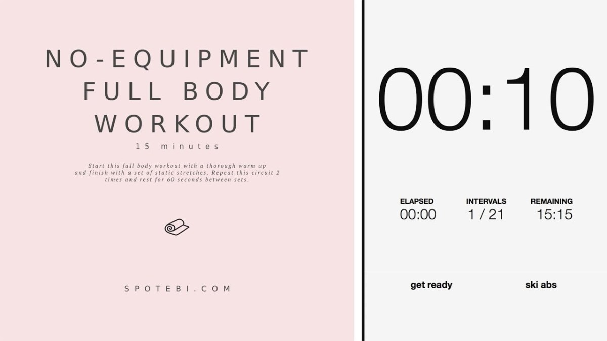 No Equipment Full Body Workout Flawlessend Circuit Training Exercises