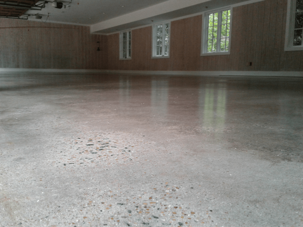 Grind Polish and Seal 6 Car Garage in Buckhead GA