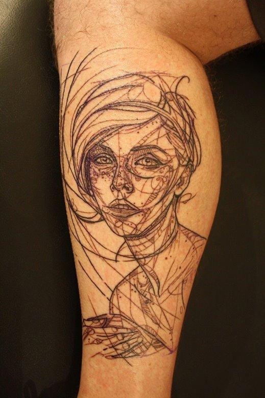 Geometric Tattoo Leg Ideas  Flawssy