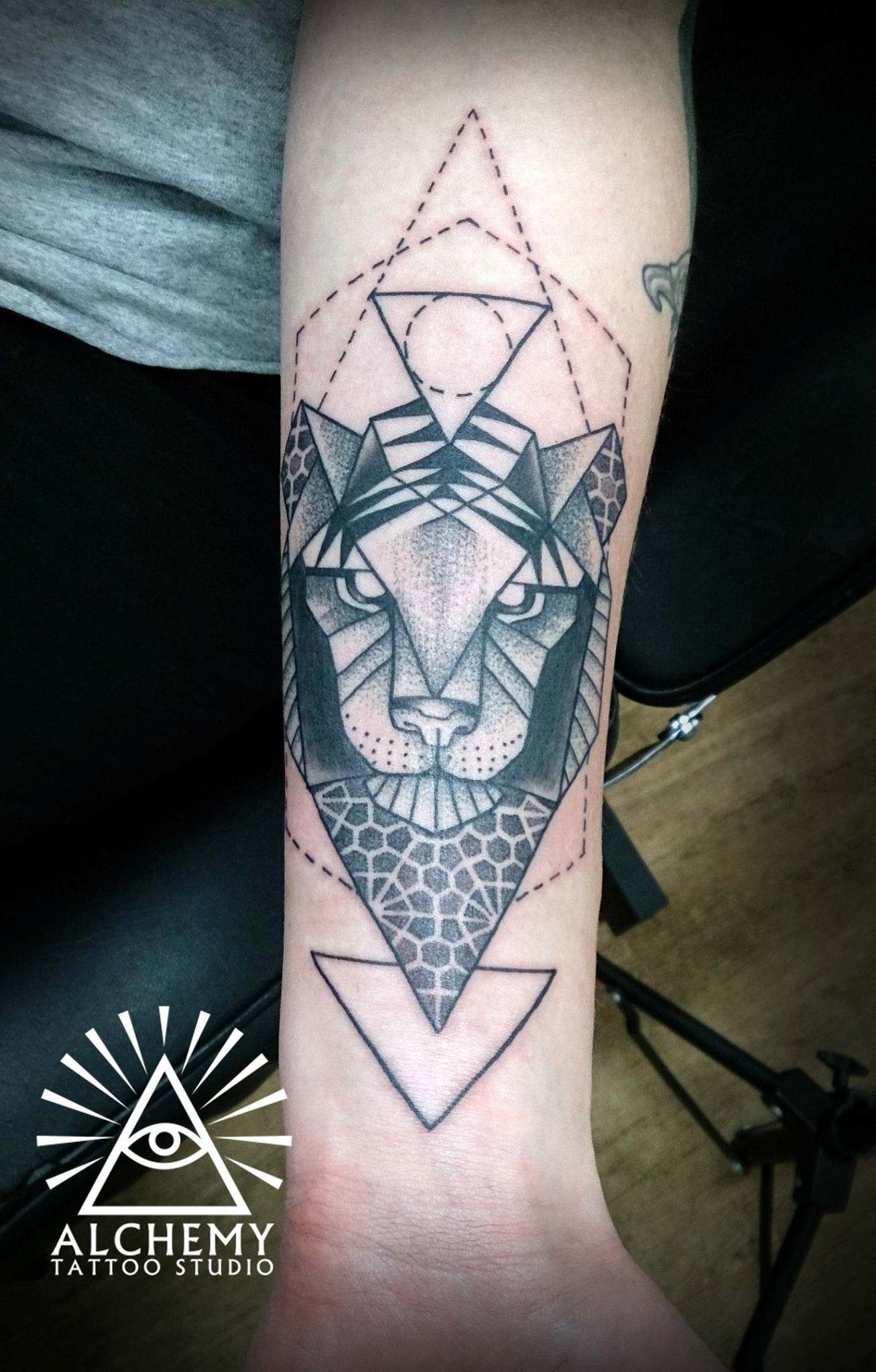Geometric Tattoo Tiger Ideas  Flawssy